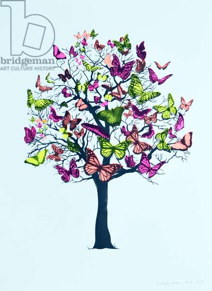 Butterfly blossom, 2016, (screen print)