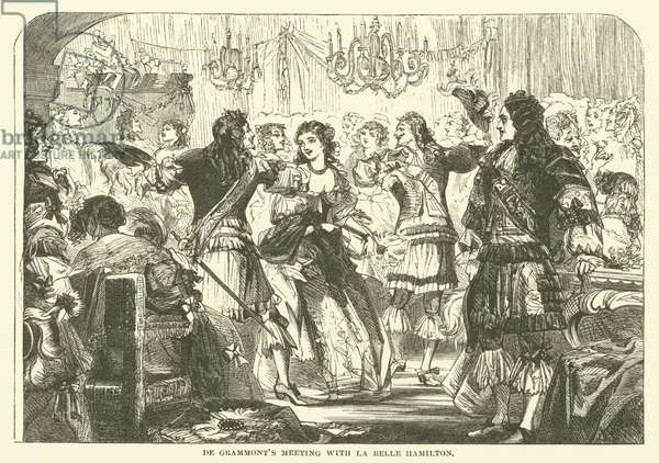 De Grammont's Meeting with La Belle Hamilton (engraving)