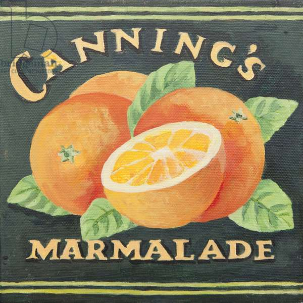 Cannings marmalade can label (acrylic)