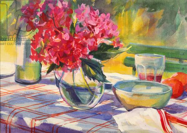 French garden table, 1999, (gouache on paper)