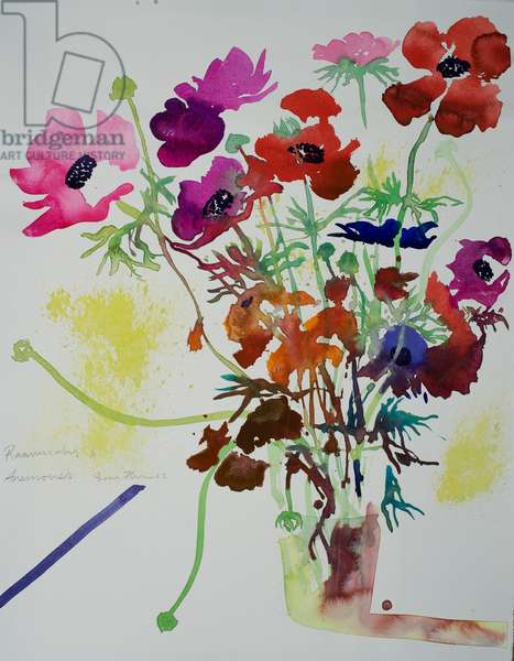 Ranunculus & anemones, 2010 watercolour