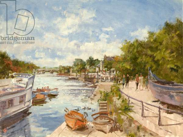 The Thames at Richmond, 2012 (oil on canvas)