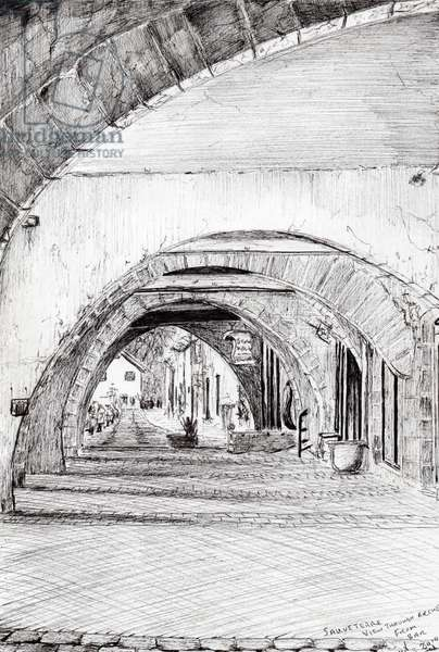 Arches Sauveterre France, 2010, (ink on paper)