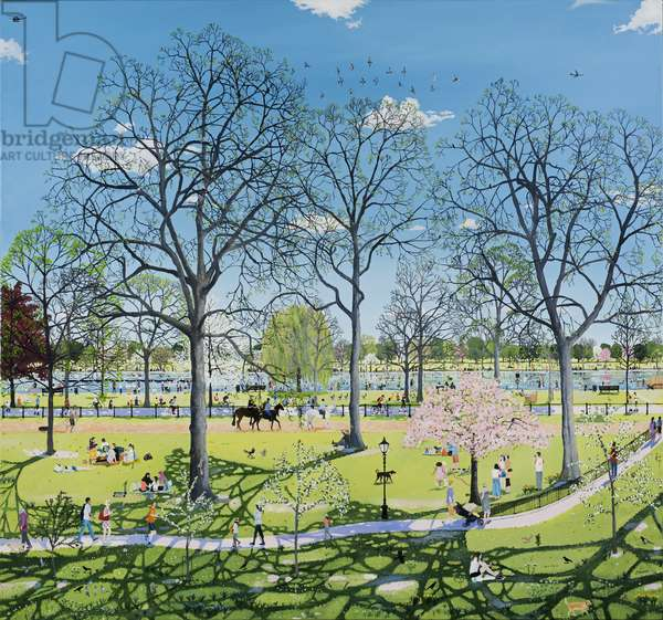 Spring in Park, 2018, (oil on polyester)