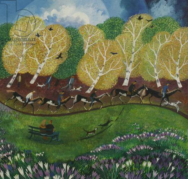 Wimbledon Common, 2013 (acrylic ink and gouache on canvas)