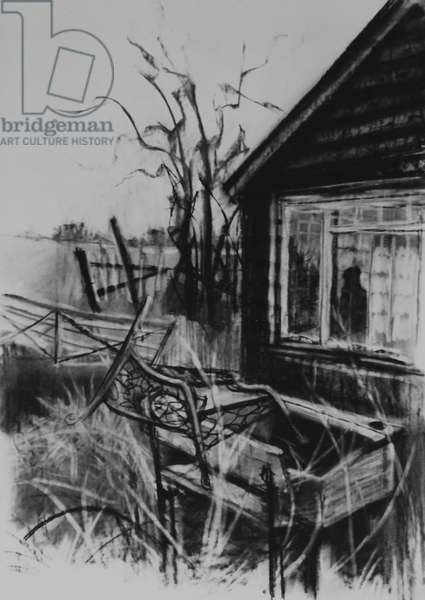 Not Forgotten, 1998 (charcoal on paper)