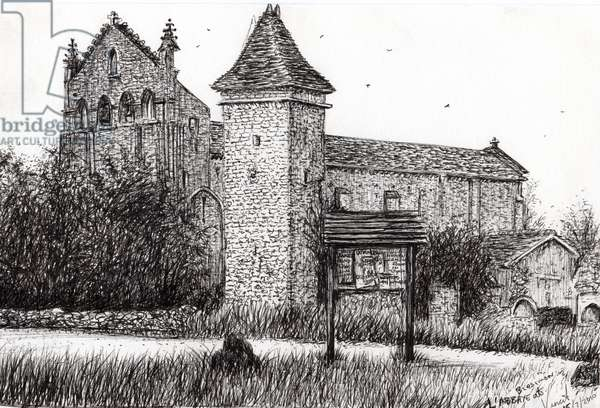 L'Abbeye Blassimon France, 2010, (ink on paper)