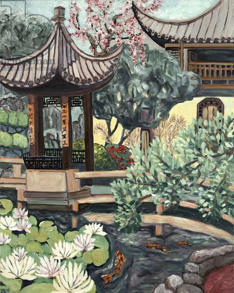Lansu Garden, 2018, (acrylic on canvas)