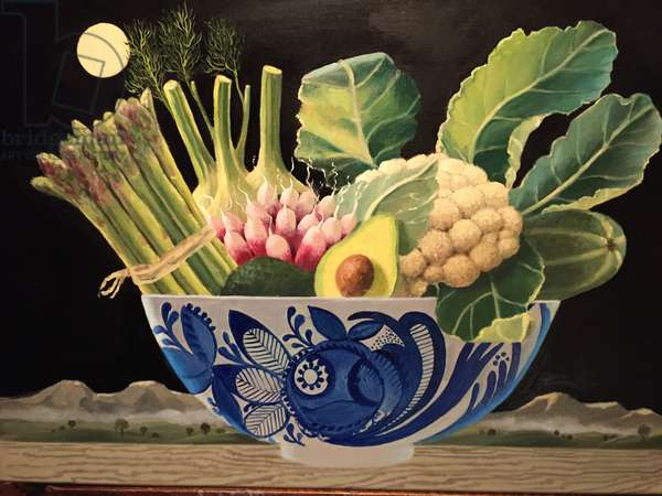 Bowl of Vegetables, 2015, (oil on canvas)