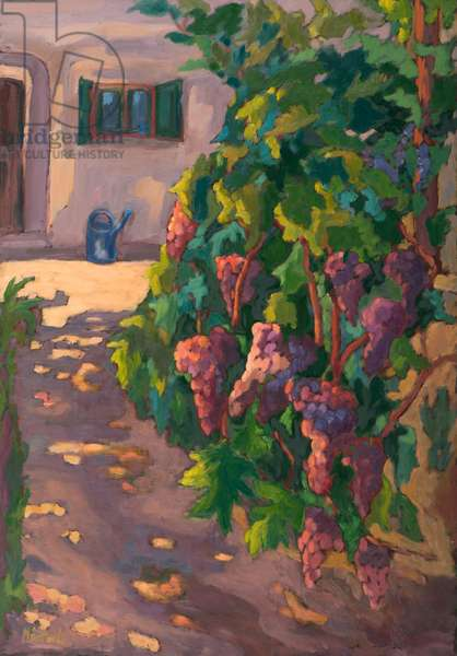 In the Vineyard, (2011) oil on board