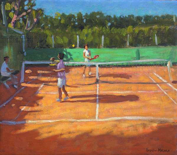 Tennis practise ,Cap d'adge,France,2013,(oil on canvas)