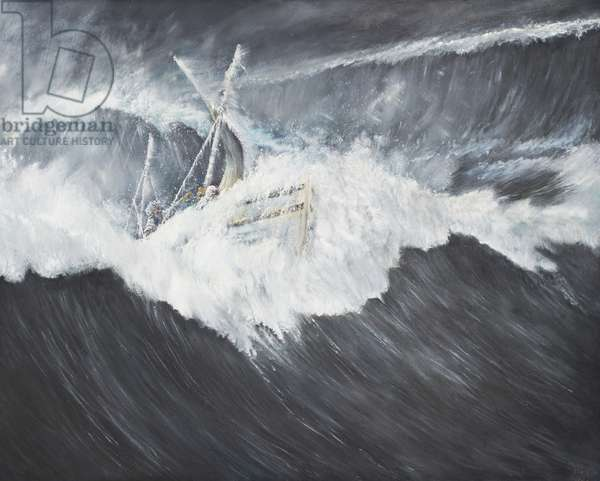 The Gigantic Wave (2), 2006, (oil on canvas)
