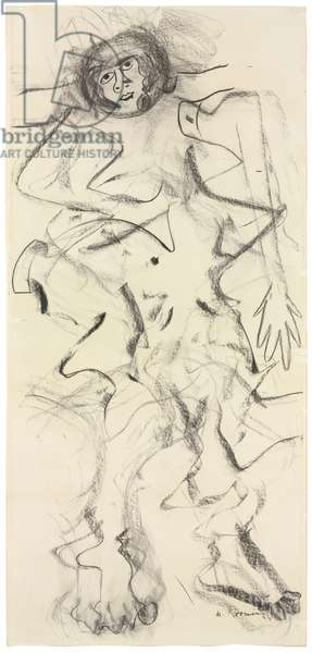 Woman, 1964 (charcoal on paper)