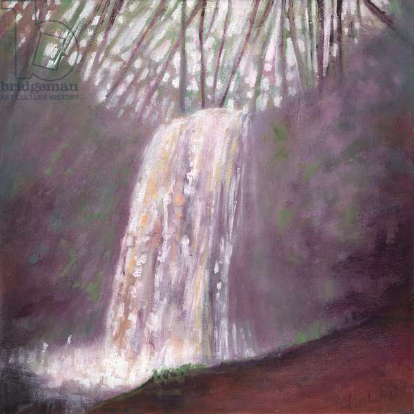 Waterfall IV, 2016, (oil on canvas)