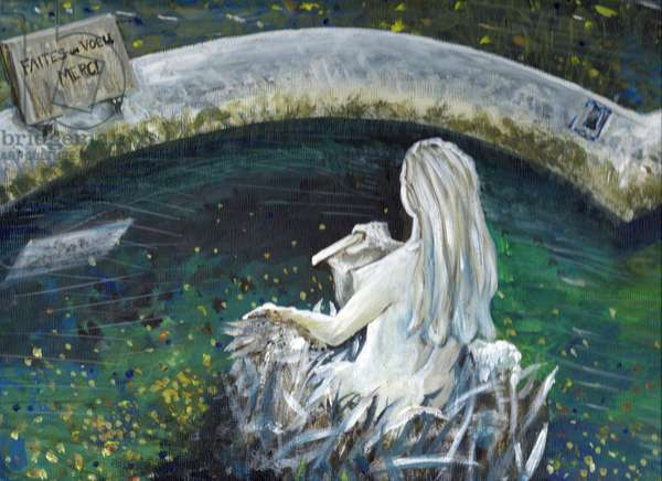 Mermaid of Laignes, 2006, (acrylic on canvas board)