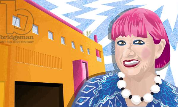 Dame Zandra Rhodes and the Fashion & Textiles Museum in Bermondsey, London.