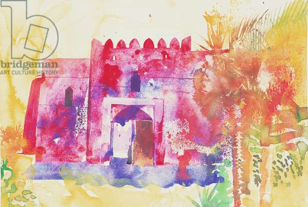 Jabreen walls, Oman, 2005 (watercolour)