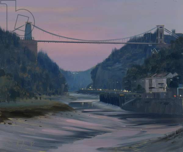 Avon Gorge, twilight, October