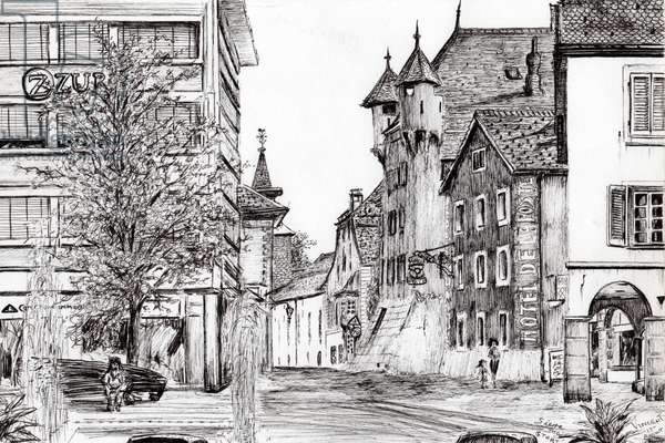 Sierre Switzerland, 2012, (ink on paper)
