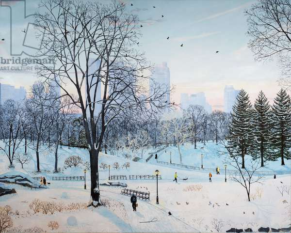 Winter landscape Central Park! 2016, ( oil on linen)