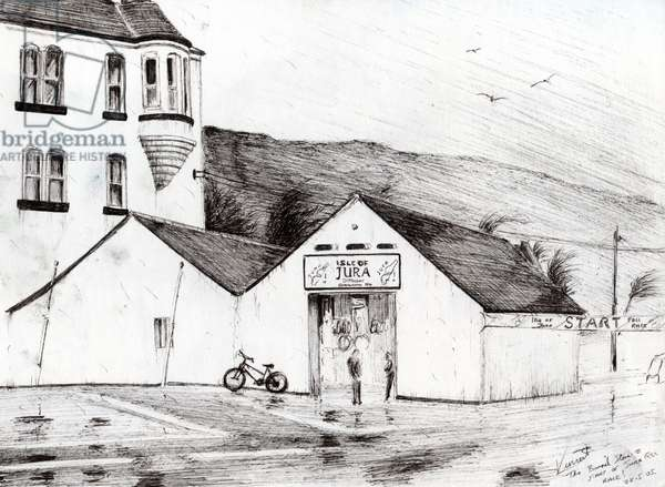 Jura Race start, 2005, (ink on paper)