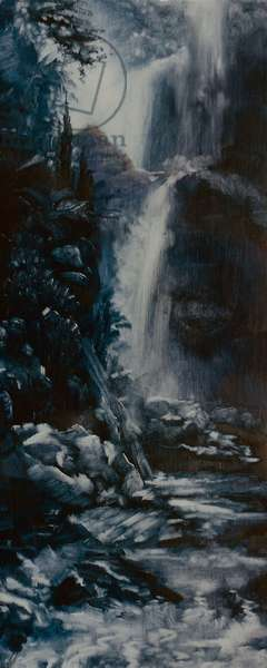 Waterfall, 2000 (oil on paper)