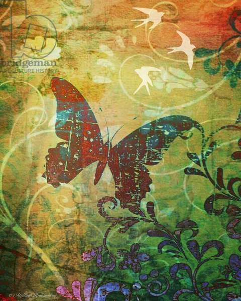 Butterfly Haiku, 2014, (digital mixed media phoneography)