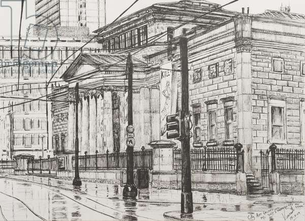 City Art Gallery, Manchester, 2007, (ink on Paper)