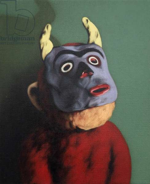 Monkey in Cow Mask, 2005, (oil on canvas)