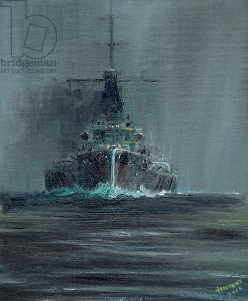 Dreadnought 1907, 2016, (oil on canvas board)