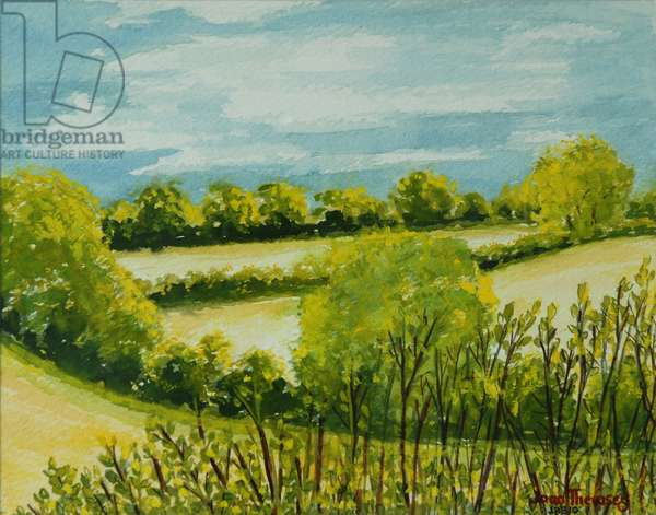 August Landscape, Suffolk (w/c on paper)