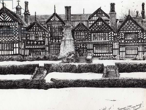 Bramall Hall Bramhall, 2004, (ink on paper)