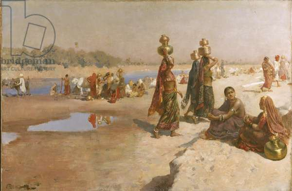 Water Carriers of the Ganges, c.1885 (oil on canvas)