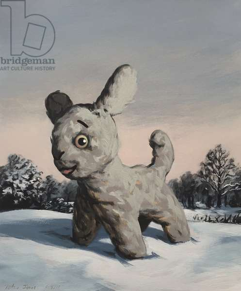 Snowy, 2010, (oil on paper)