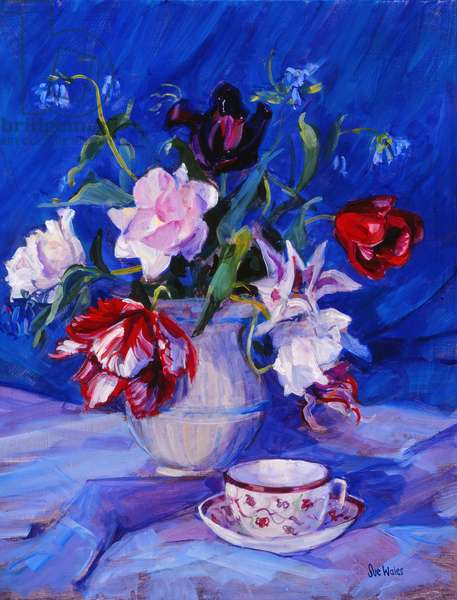 Tulips from my garden, 1995, (gouache on paper)