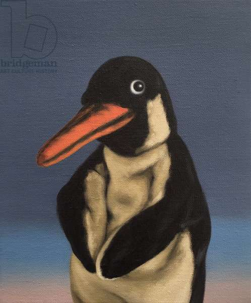 Penguin, 2018, (oil on canvas)