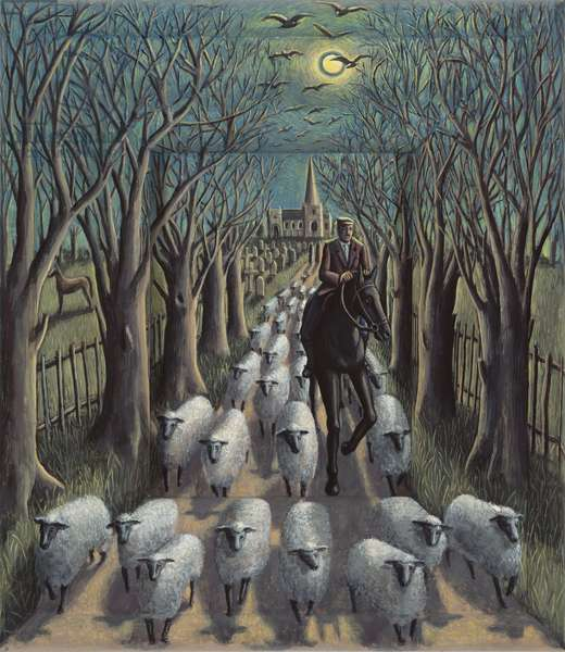 The Shepherd, 2012 (tinted gesso on canvas)
