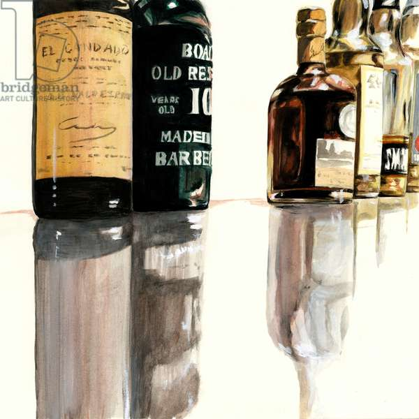Bar counter ,2014(Acrylic paint on paper)