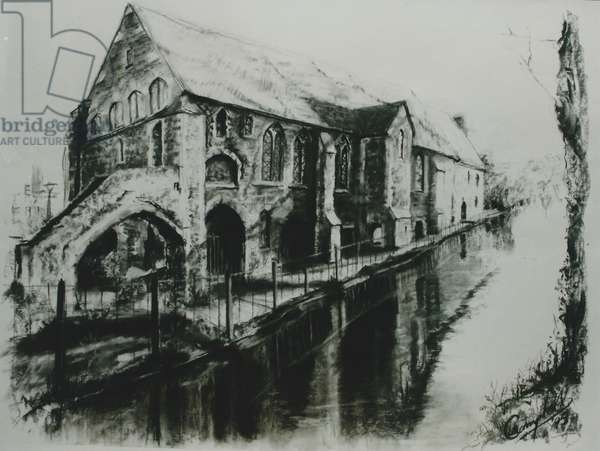 Blackfriars Canterbury, 2000 (charcoal on paper)