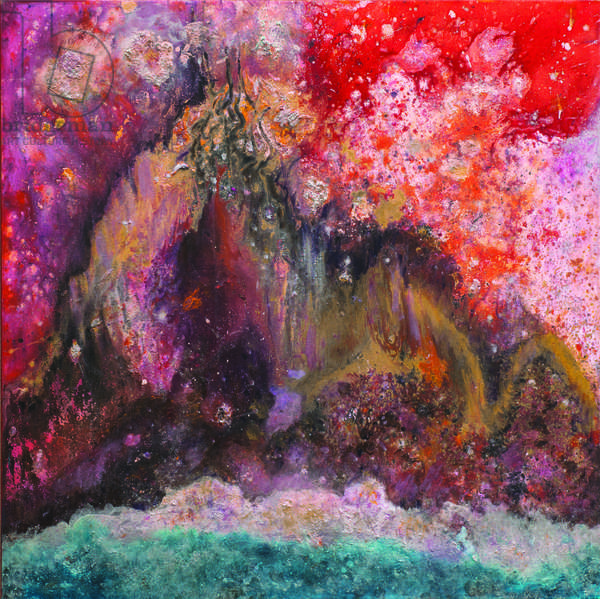 Celestial Mountain, 2006 (mixed media on canvas)