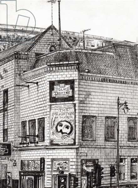 Palace Theatre Manchester, 2013, (ink on paper)