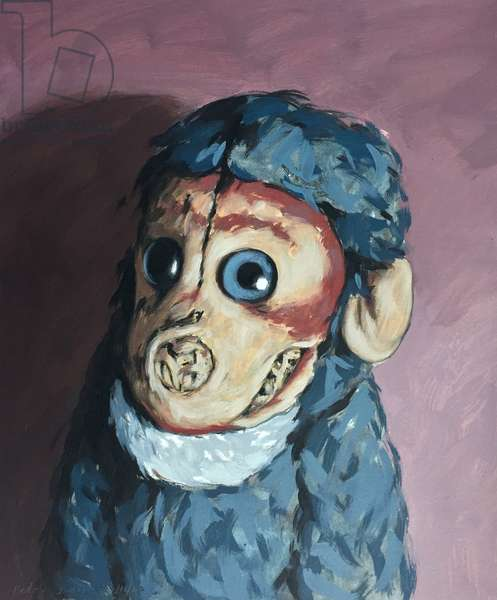 Ollie Monkey, 2007, (oil on paper)