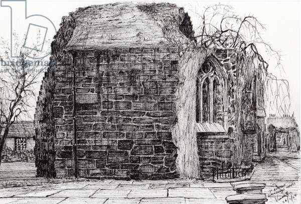 Blackfriers Chapel St Andrews, 2007, (ink on paper)