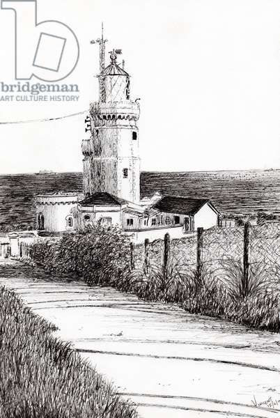 Lighthouse Isle of Wight, 2010, (ink on paper)