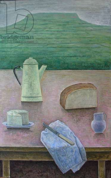 Still Life with Wensleydale Cheese
