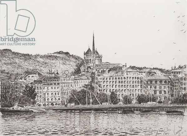 City of Geneva, 2011, (ink on Paper)