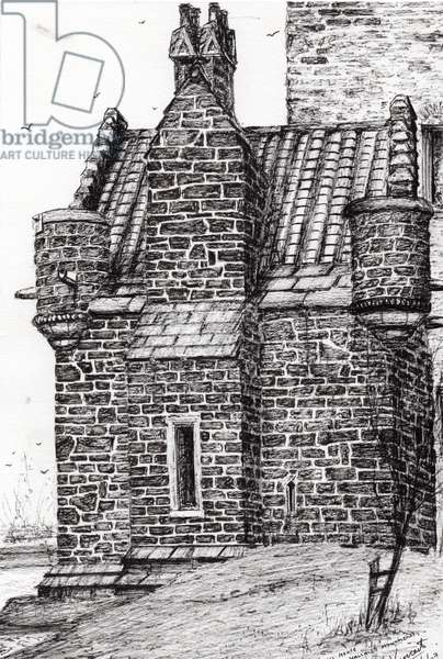 Wallace monument the small house, 2007, (ink on paper)