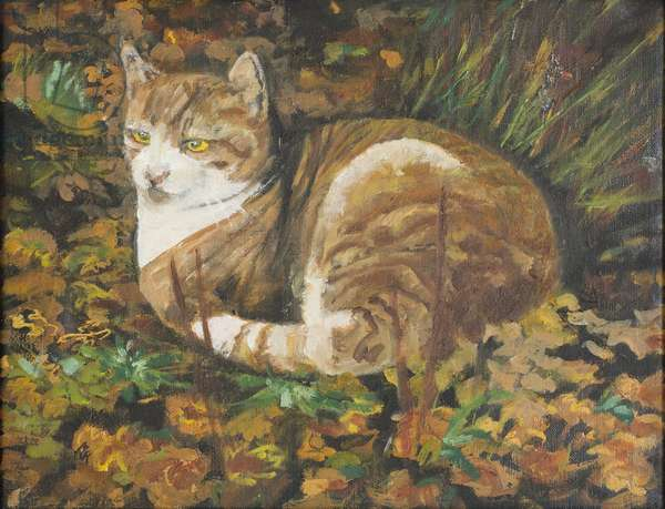 Autumn Leaves, 2002 (oil on canvas)