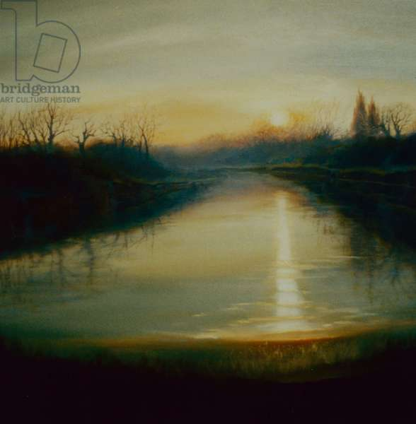 Winter Thames, 2009 (oil on canvas)