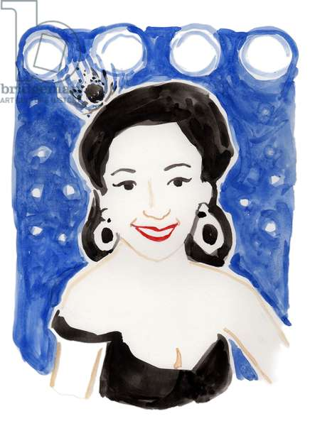 Dita Von Teese, 2018 (watercolor)